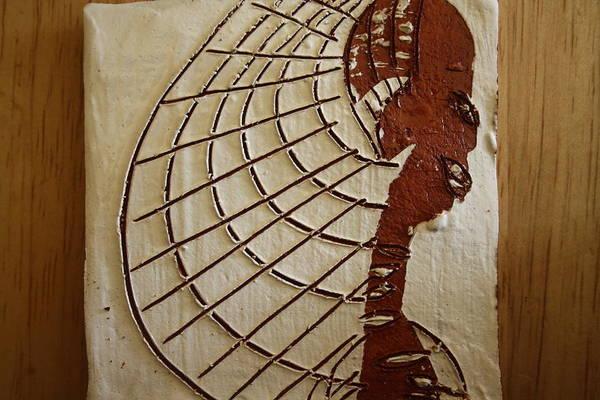Ceramic Art - Church Lady 8 - Tile by Gloria Ssali
