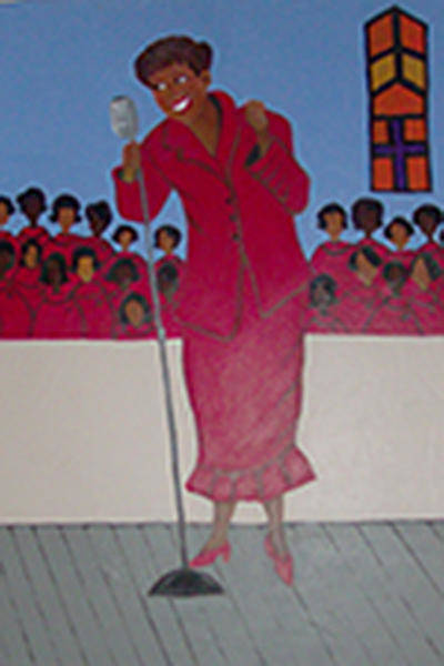 Katherine Green Wall Art - Painting - Church Lady  by Katherine Green