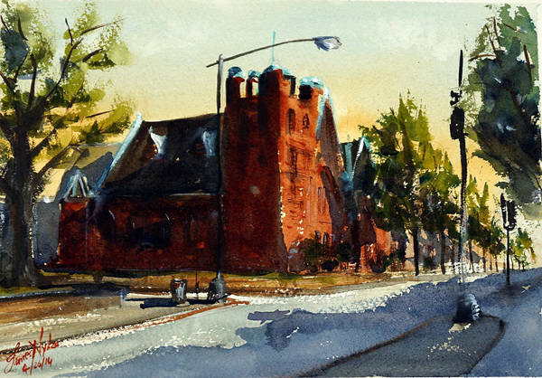 Zion Painting - Church, Nw Dc by James Nyika