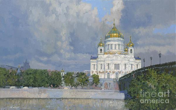 Ortodox Wall Art - Painting - Church Of Christ The Saviour by Simon Kozhin