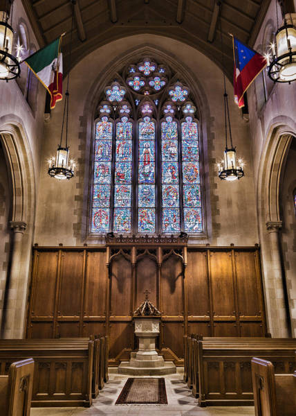 Wall Art - Photograph - Church Of Heavenly Rest Baptismal Font by Stephen Stookey