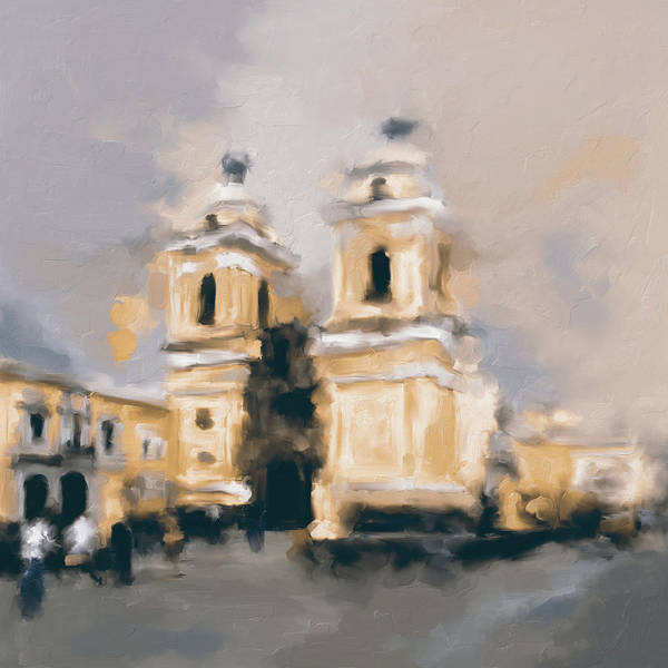 Wall Art - Painting - Church Of San Francisco 566 2 by Mawra Tahreem