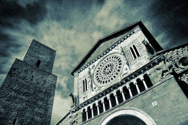 Photograph - Church Of San Pietro - Tuscania by Silvia Ganora
