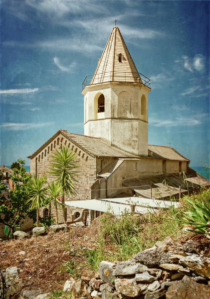 Photograph - Church Of San Pietro Corniglia Cinque Terre Italy by Joan Carroll