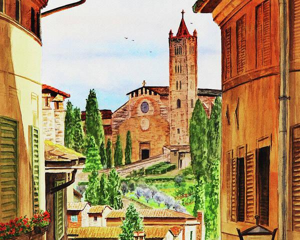 Painting - Church Of Santa Maria Dei Servi Siena Italy by Irina Sztukowski