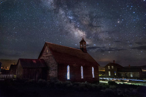 Nightscape Photograph - Church Of Stars by Cat Connor