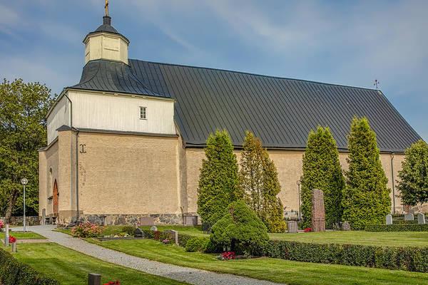 Photograph - Church Of Svinnegarn August 2015 by Leif Sohlman