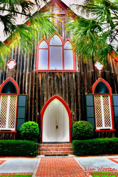 Photograph - Church Of The Cross Bluffton Sc Entrance by Lisa Wooten