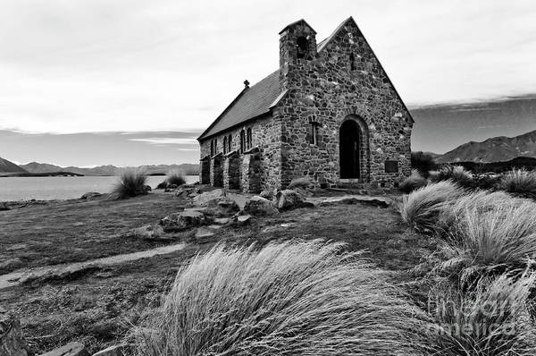 Photograph - Church Of The Good Shepherd - Bw by Werner Padarin