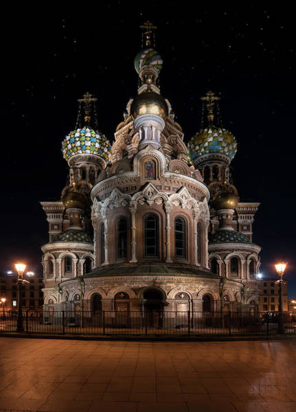 Wall Art - Photograph - Church Of The Savior On Spilled Blood At Night by Jaroslaw Blaminsky