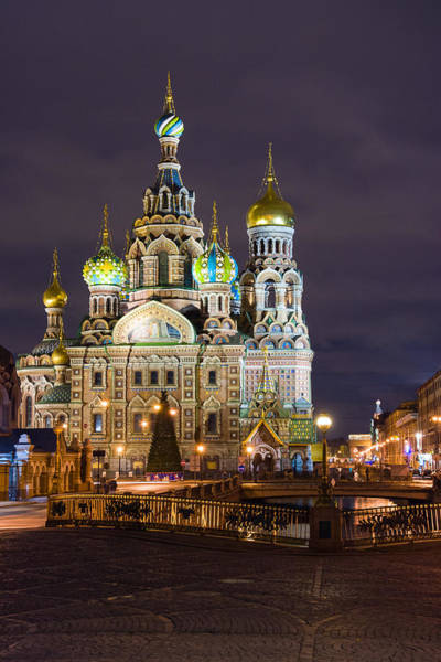 Cathedral Of Christ The Savior Photograph - Church Of The Savior On Spilled Blood, St. Petersburg,  Russia by Auradius Photography