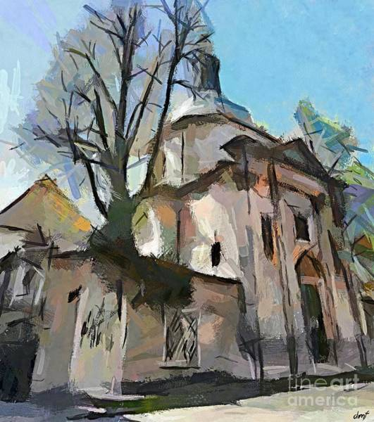 Ljubljana Painting - Church Of The Teutonic Knights Order by Dragica Micki Fortuna