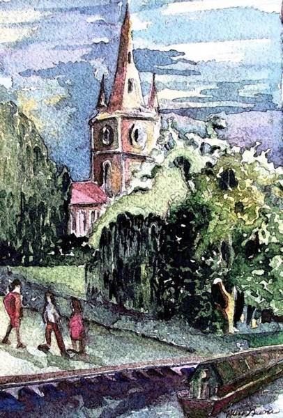 Wall Art - Painting - Church Of William Shakespeare by Mindy Newman