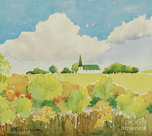 Wall Art - Painting - Church On The Hill by Annette McGarrahan