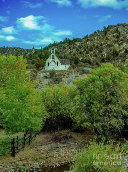 Sliver Photograph - Church On The Hill by Robert Bales