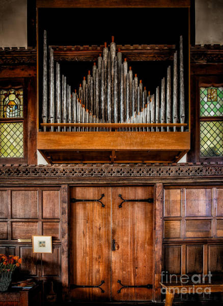 Hinges Photograph - Church Organ by Adrian Evans