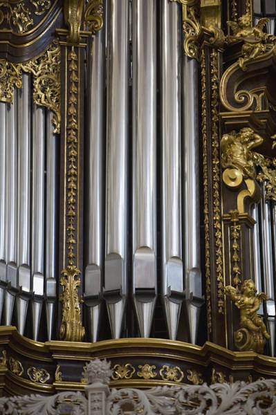 Pipe Organ Photograph - Church Organ, Saint Stephan's Cathedral, Passau, Germany by Pnc