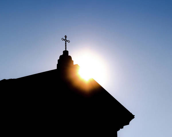 Photograph - Church Rooftop And Sun Rays by Alexandre Rotenberg