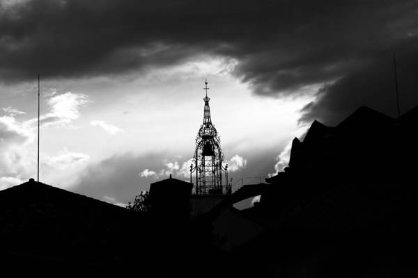 Photograph - Church Silhouette 2 by Andrew Fare