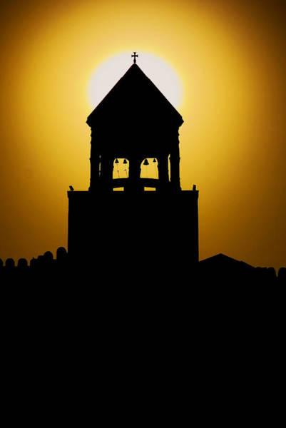 Photograph - Church Silhouette Sunset  by Ivan Slosar