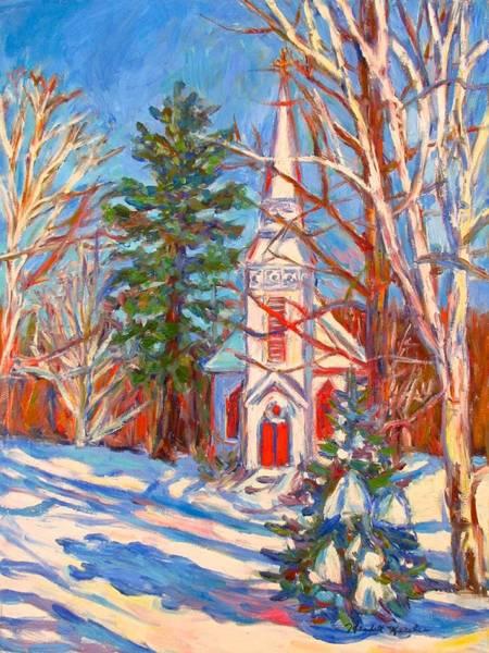 Painting - Church Snow Scene by Kendall Kessler