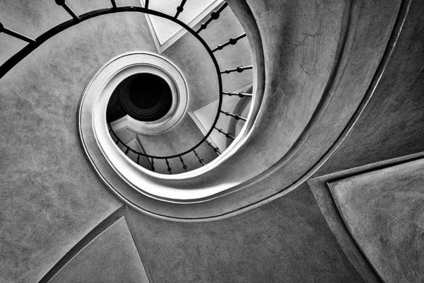 Photograph - Church Spiral Staircase by Stuart Litoff
