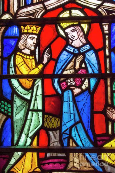 Biblical Photograph - Church Stained Glass Window by Juli Scalzi