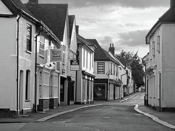 Photograph - Church Street Sawbridgeworth In Black And White by Gill Billington