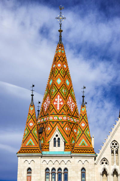 Photograph - Church Tower Matthias Church Budapest Hungary by Matthias Hauser