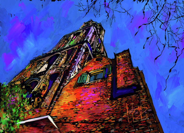 Painting - Church, Utrecht, Netherlands by DC Langer
