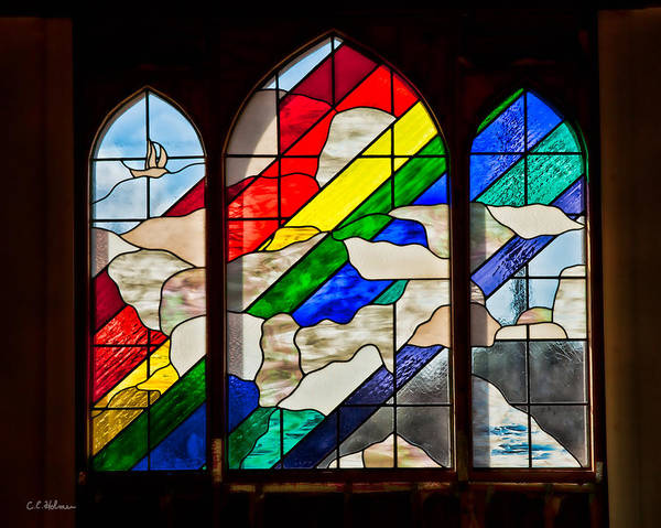 Photograph - Church Window by Christopher Holmes