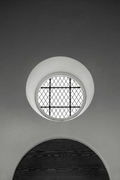 Photograph - Church Window In Black And White by Don Johnson