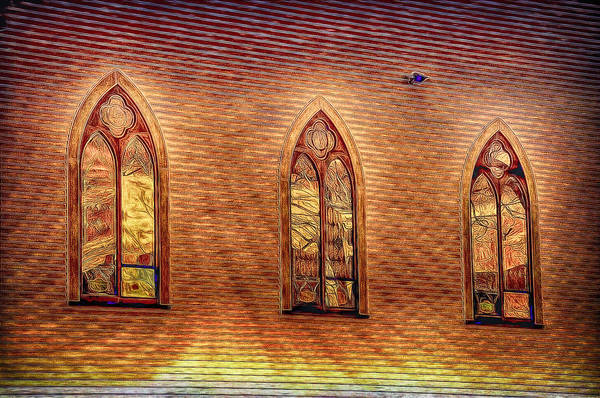 Photograph - Church Windows In A Moment Of Special Light by Phyllis Meinke