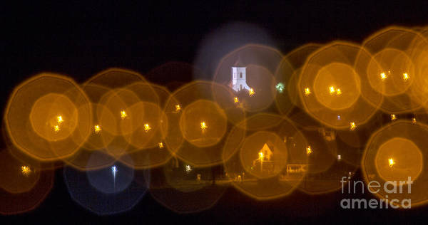 Photograph - Church With Circle Bokeh by Odon Czintos