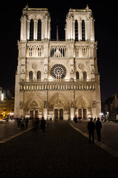 Photograph - Churches At Night In Paris by Miguel Winterpacht