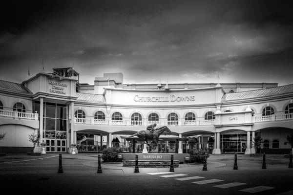 Wall Art - Photograph - Churchill Downs In Black And White by Art Spectrum