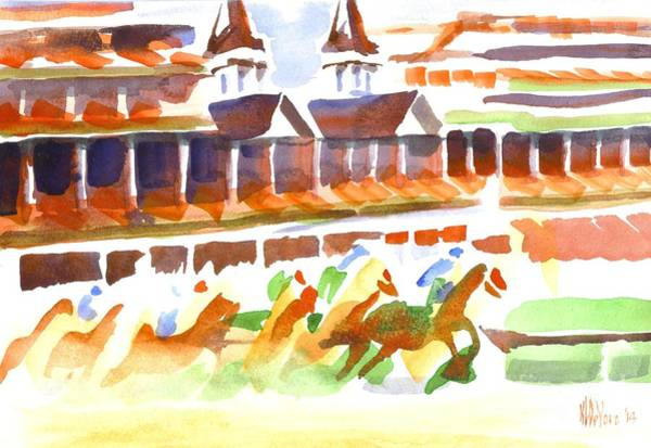 Painting - Churchill Downs Watercolor by Kip DeVore