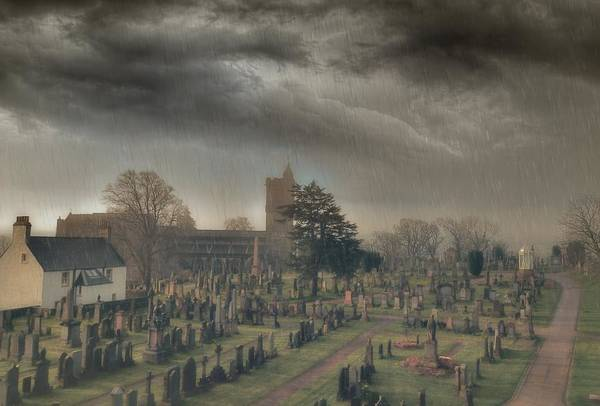 Cementery Photograph - Churchyard Of The Church Of The Holy Rude by John Griffiths