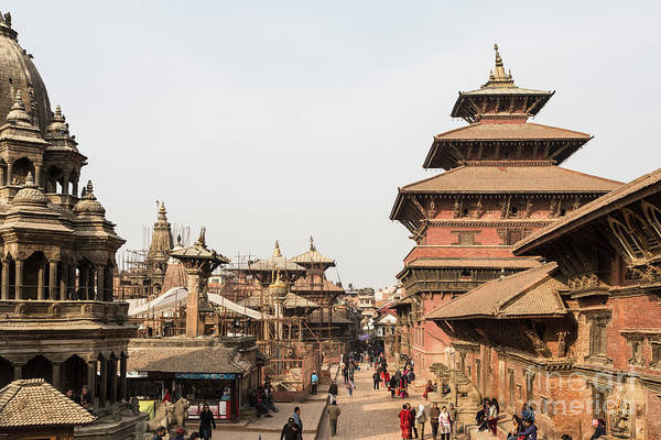 Photograph - Chyasim Deval Krishna Temple In The Durbar Square In Patan In Th by Didier Marti