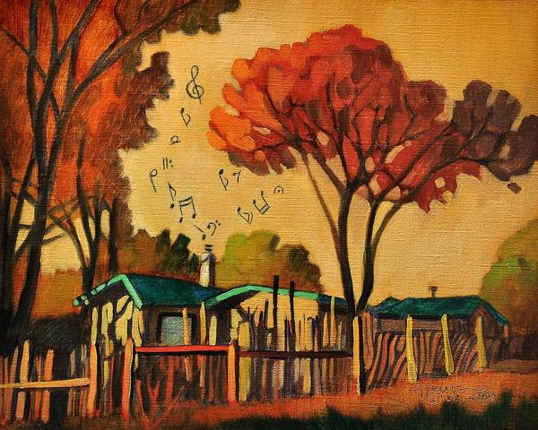 Painting - Cia's Music House by Art West