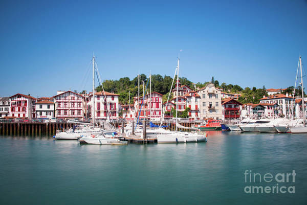Harbor Scene Wall Art - Photograph - Ciboure by Delphimages Photo Creations