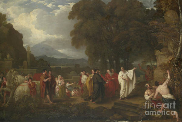 Sicily Painting - Cicero Discovering The Tomb Of Archimedes by Benjamin West