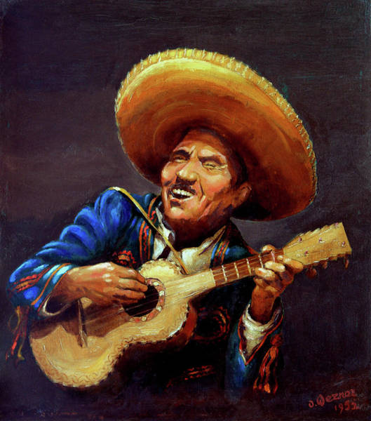 Mexican Guitar Player Painting - Cielito Lindo by Hanne Lore Koehler