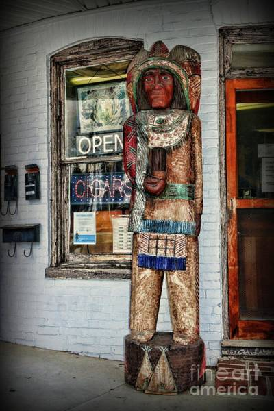 Wall Art - Photograph - Cigar Store Indian by Paul Ward
