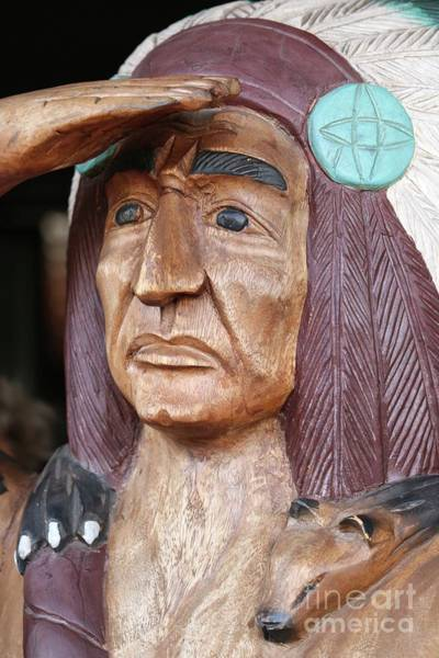 Photograph - Cigar Store Wooden Indian In Miami by Carol Groenen