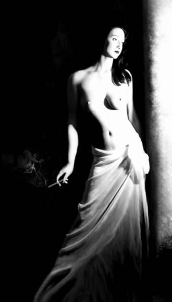 Artsy Photograph - Cigarette Break - Self Portrait by Jaeda DeWalt