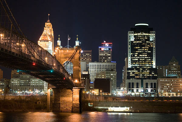 Photograph - Cincinnati At Dusk by Russell Todd