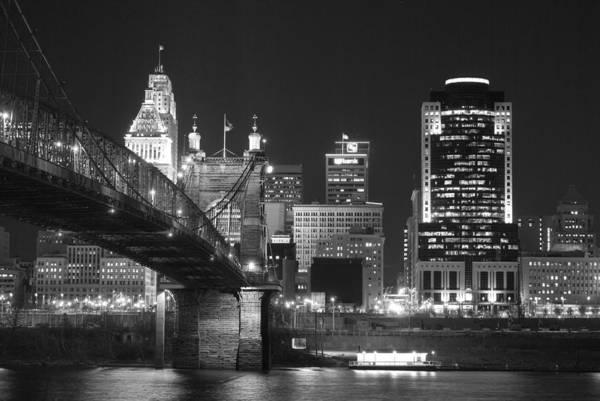 Cincinnati Wall Art - Photograph - Cincinnati At Night by Russell Todd