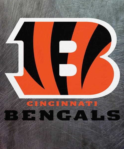Mixed Media - Cincinnati Bengals On An Abraded Steel Texture by Movie Poster Prints