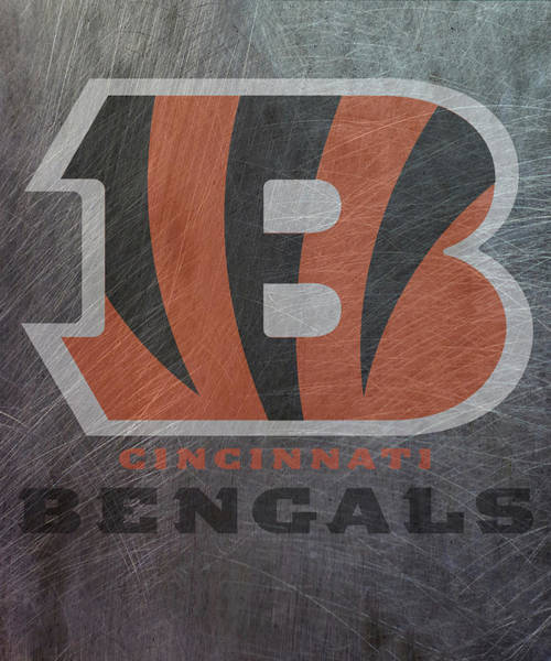 Mixed Media - Cincinnati Bengals Translucent Steel by Movie Poster Prints